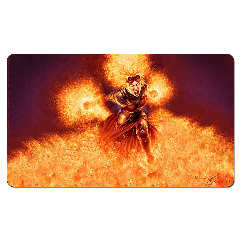 (Chandra Fighting Card Trading) Magical Board Games Playmats,The Rubber Table Pad, Gathering Design Playmat with Free Gift Bag