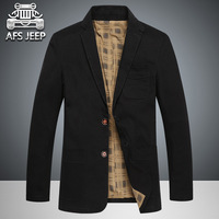 AFS JEEP 2017 Top Spring Men S Causal Business Blazer Man Single Breasted Cotton Slim Suit