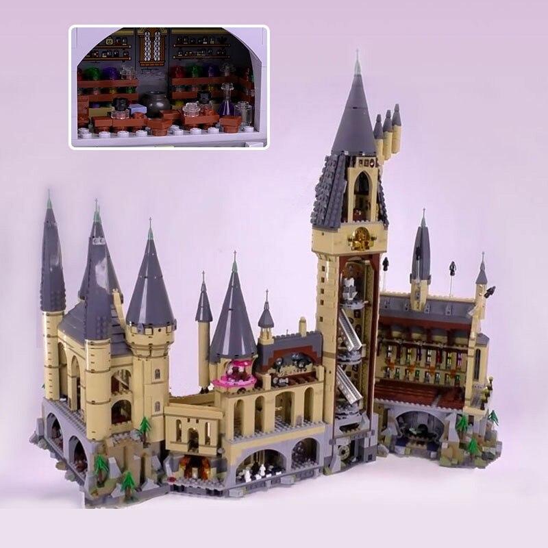 SY magia película figuras Hogwarts Castillo modelo bloques ladrillos juguetes educativos Set Compatible Harry Potter Legoing 71043