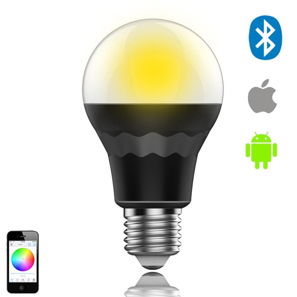 Smart led bulb bluetooth light bulb music sync control by for Bluetooth controlled light bulb