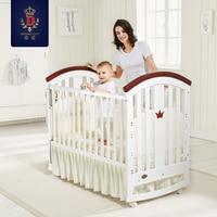 Бренд детская кровать Твердые Woode новорожденных кровать колыбель кровать с матрасом Multi Функция детская кровать ролик переменная стол