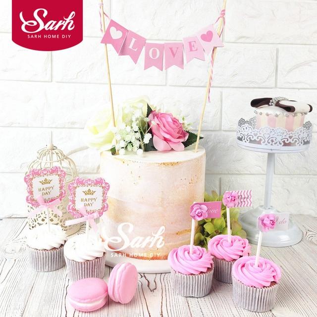 Pink Forest Garden Love Beautiful Wedding Flower Birthday Cake