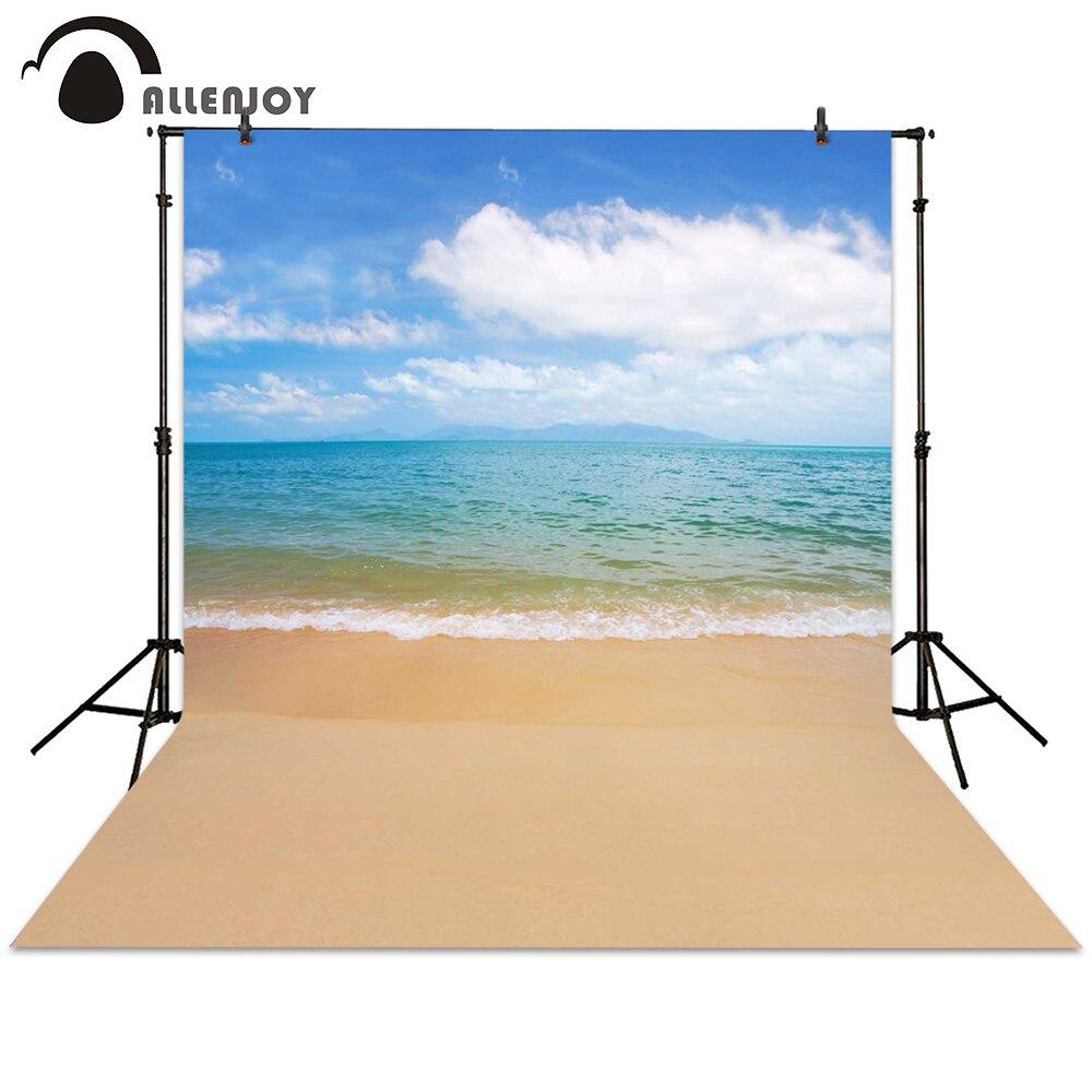 Allenjoy photo background beach sea wave sky backdrops for photo studio photographer photocall photographic baby newborn