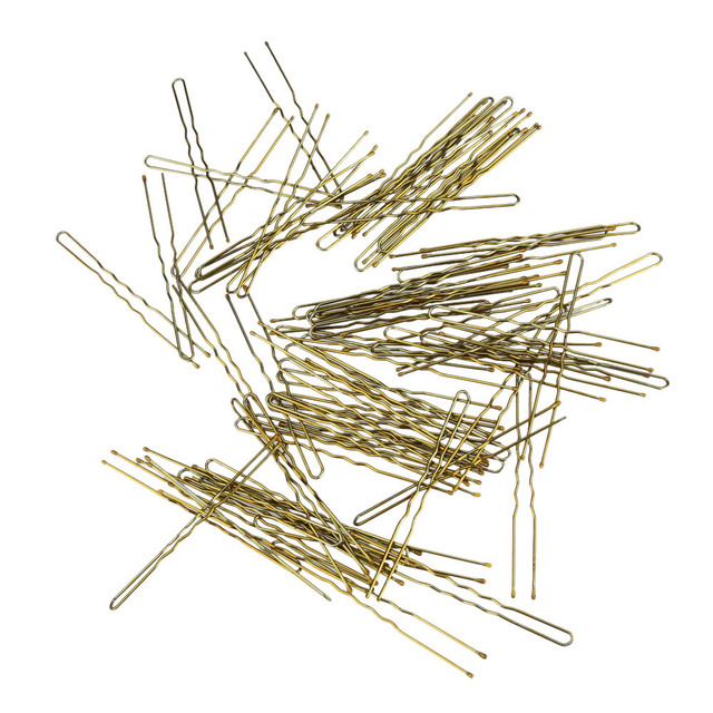 300 Teilesatz Thin U Form Bobby Pins Goldene Metall Clips