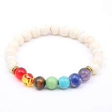 цены на Ourania Men's and Women's Lucky Bracelet Colorful Chakra Natural Beads Stone Yoga Energy Beaded Bracelet Lovers Jewelry Gifts  в интернет-магазинах