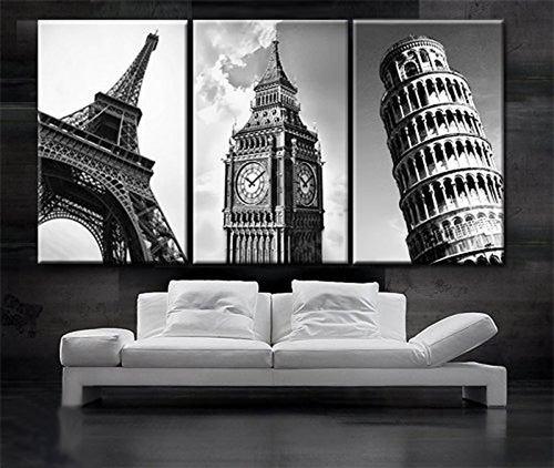 3 pieces Wall Art Vintage Retro Picture Of Big Ben In London Bridge Painting The Picture Print On Canvas Architecture Pictures in Painting Calligraphy from Home Garden