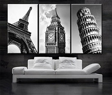 3 pieces Wall Art Vintage Retro Picture Of Big Ben In London Bridge Painting The Print On Canvas Architecture Pictures