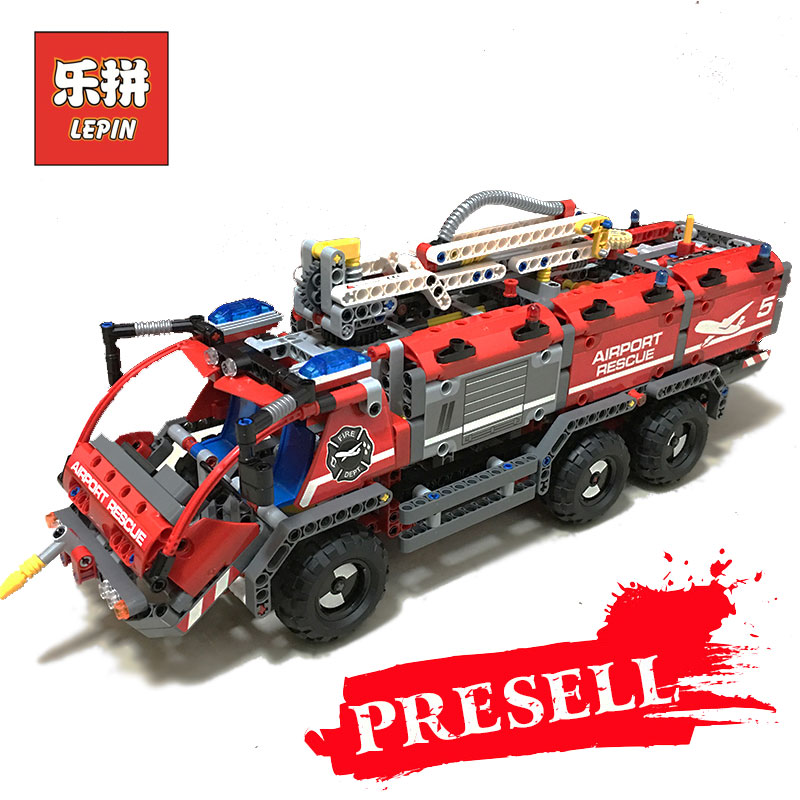 Lepin 20055 Genuine Mechanical Series The Rescue Vehicle Children Educational Building Blocks Bricks Toys Gifts LegoINGlys 42068 lepin 20055 city technic mechanical fire accident the rescue vehicle building blocks bricks educational toys for children gifts