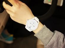 Black White Silicone Watches Ultra Slim