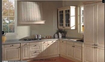 Модульный деревянный недорогой кухонный шкаф (LH-SW041)