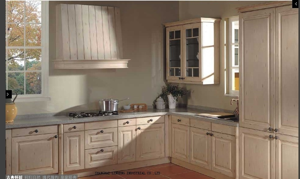 modular wooden cheap kitchen cabinet(LH-SW041)
