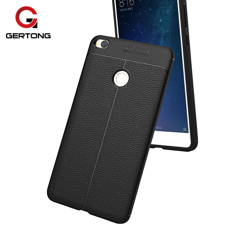 GerTong For Xiaomi Mi Max 2 Case 6.44 inch Hard Soft Silicone Armor Phone Cover Case For Xiaomi Mi Max2 Max 2 Classic Protection