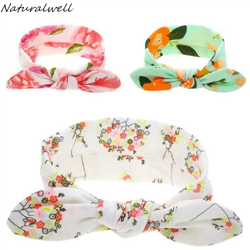 Naturalwell Baby Girl Flower Headwraps Toddler Turban Bow Knot Head Wrap Cotton Stretch Headband Newborns Photo Prop 1pc HB124 цены онлайн