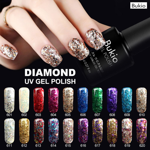 Bukio Everything for Manicure 3D Diamond Hybrid Nail Polishes Primer for Nails Under Gel Lacquer Uv Lamp for Nails Acrylic Gel