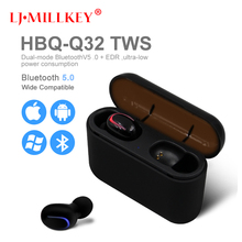 True Bluetooth V5.0 Earphones HBQ TWS Wireless Headphons Sport Handsfree Earbuds 3D Stereo Headset With Mic For All phone YZ258