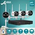 Plug And Play P2P 720 P HD Outdoor + IR Indoor Sistema de Câmera De Segurança WI-FI & 4CH NVR Sem Fio de Vídeo Kit de vigilância CCTV 1 TB HDD