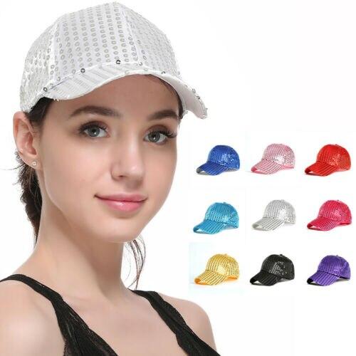 2019 Frauen Plain Curved Visor Baseball Kappe Mode Pailletten Atmungsaktive Baseball Hüte Spezieller Kauf