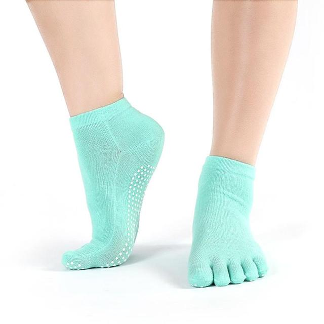 Women's Non Slip Cycling Socks Sport Toe Socks Warm Exercise Running Hose Breathable Fitness Pilates cool Yoga Socks Jogging