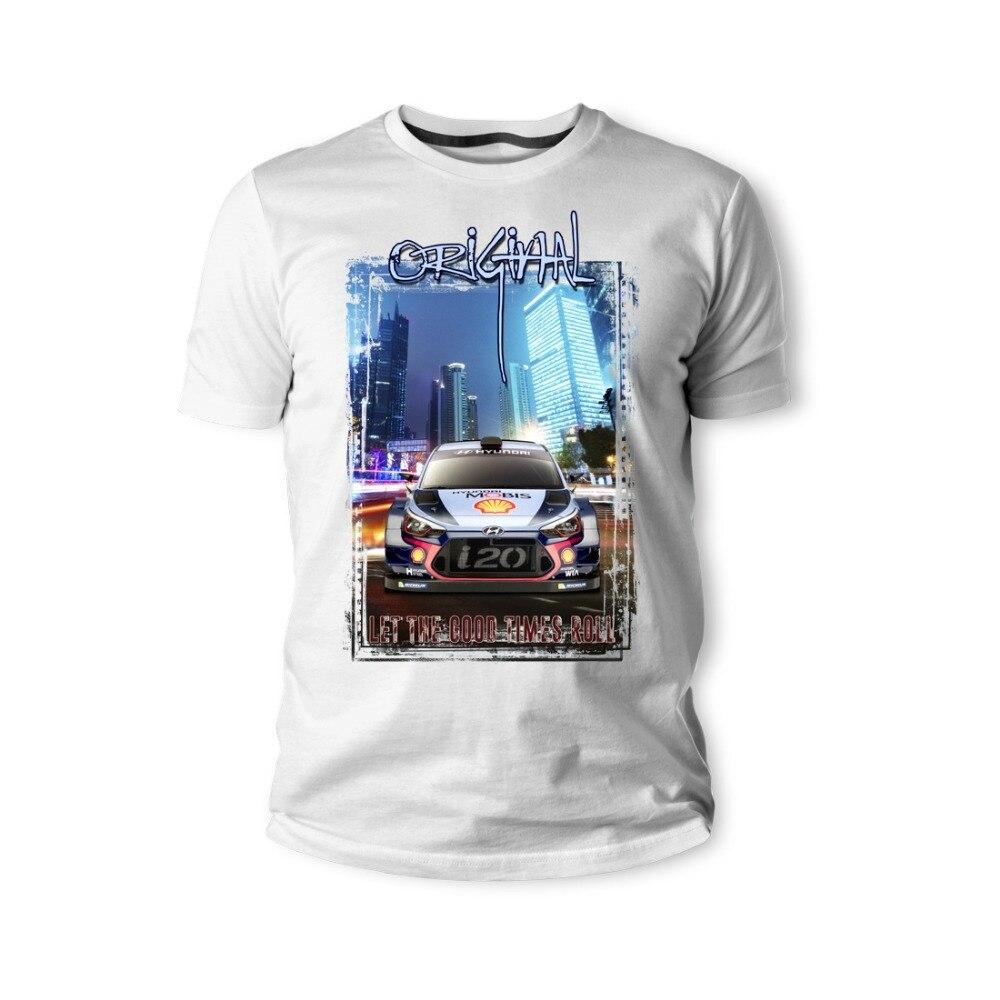 2019 New Men'S T Shirt  T-Shirt Korea Classic Legend Car I20 Coupe WRC Auto Youngtimer Oldtimer Herren T Shirt