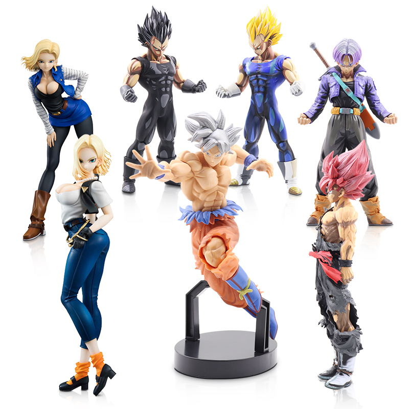 Dragon Ball Z Action Figures 21.5cm Anime Figure Super Saiyan Son Goku Master Dragonball Figurine Collectible Model Toys Gift #E