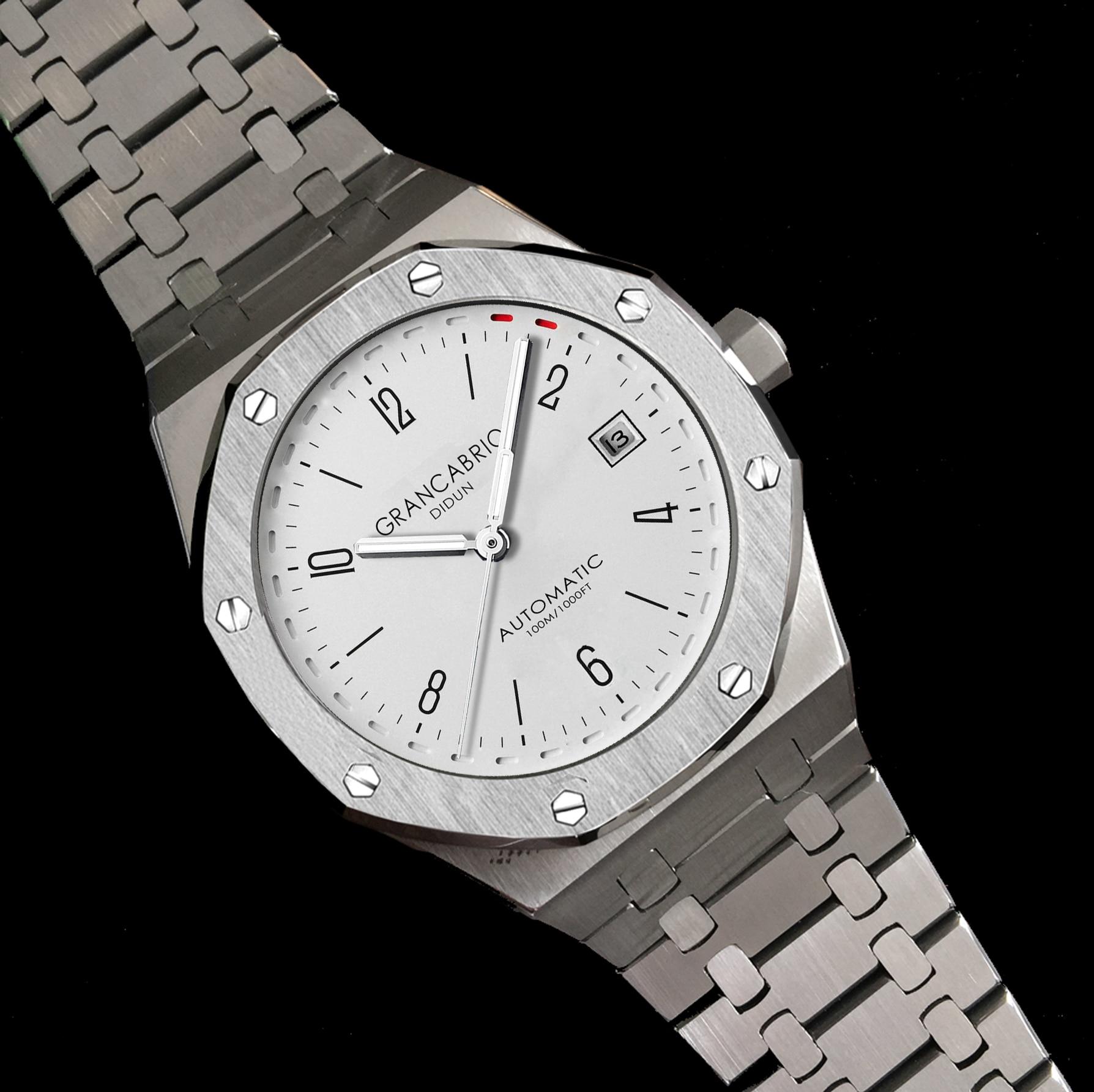 DIDUN hommes Top marque de luxe montres automatiques militaire affaires homme montre bracelet étanche en acier inoxydable bracelet-in Montres sport from Montres    2