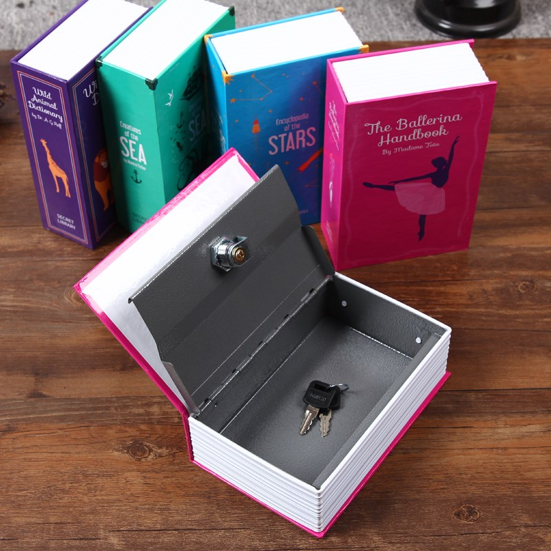 Book Secret Hidden Security Safe Lock Cash Money Jewellery Locker Box M Size 2 Models (Security Code Or Key) For Choice