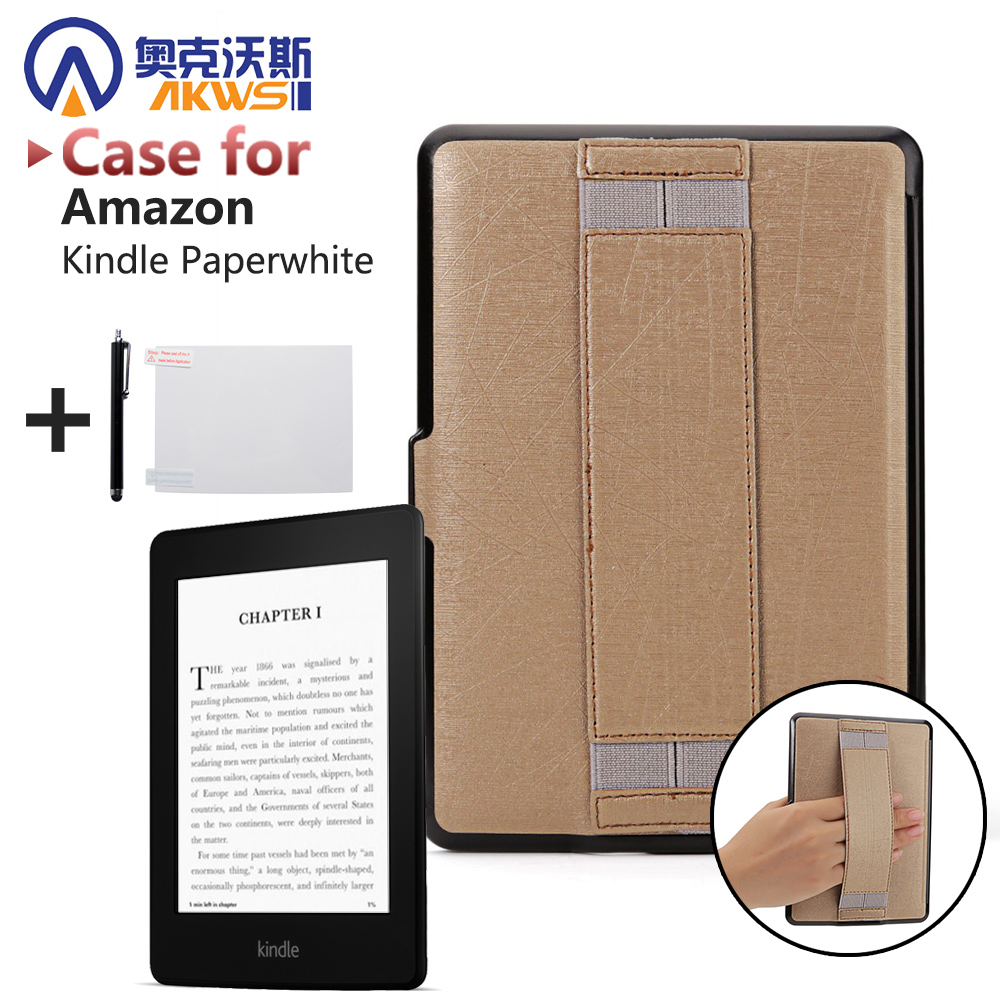 Ultra thin PU leather cover case protective shell skin for Amazon Kindle Paperwhite 1 2/paperwhite3(New model)+free stylus+film cy for amazon kindle paperwhite 1 2 3 2013 2014 2015 model 6 ebook case ultra slim premium protective shell leather cover