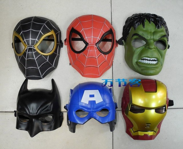 Children Adult Cartoon Party Mask Toy Halloween Cosplay 6Pcs /set Free Shipping