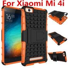 Антидетонационных Телефон Случае Для Xiaomi Mi 4i 4c Обложка Случае Кремния и Пластика 2in1 Стенд Задний Протектор Броня Противоударный Сотовый телефон случае