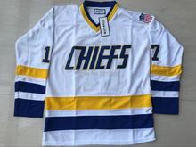 6f76fde30 Ice Hockey Jersey Brothers Hanson Charlestown Chiefs 17 Steven Hanson Slap  Shot Movie Jersey All stitched