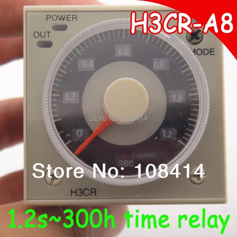 24V to 240V AC Multi-range time relay with Socket base,  Free shipping original relay ly2j ac220v 8 pins with socket base