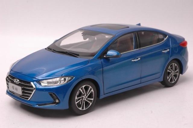 1 18 Cast Model For Hyundai Elantra 2016 Blue Alloy Toy Car Collection Crv Cr V