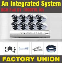 CCTV System 8ch 1000TVL CCTV Cameras video system home DVR Kit Security dvr 8 channel full d1 surveillance 8 cctv camera kit