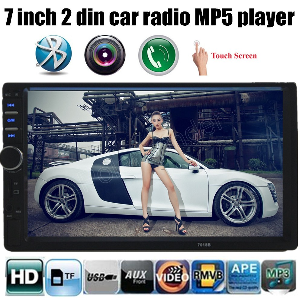 1080HD 2 Din Car MP3 Player Touch screen Bluetooth Car Stereo Radio Player FM MP5 USB