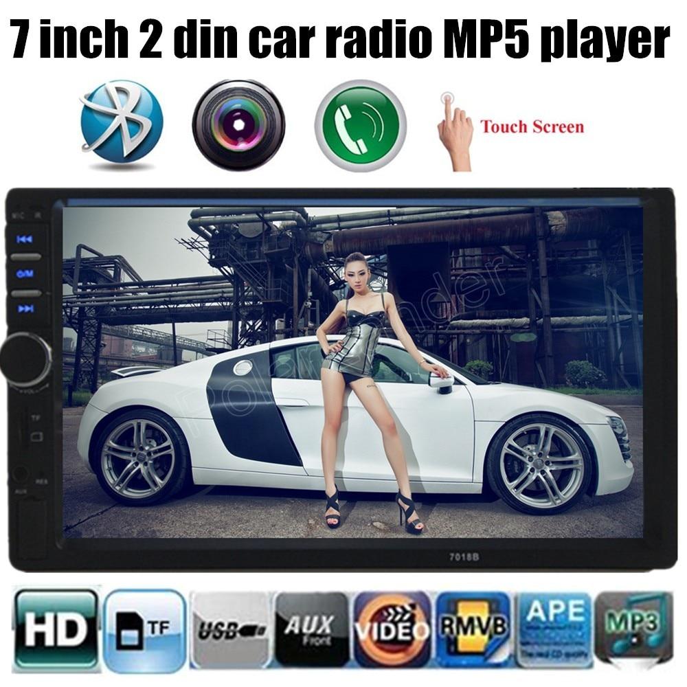 1080HD 2 Din pantalla Táctil de Coches Reproductor de MP3 Bluetooth Estéreo Del