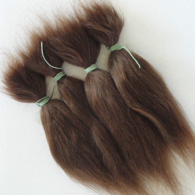 15g Soft Mohair Fit For Reborn Baby Doll Accessories Brown and Khaki Looking Real Newborn Baby Mohair For Sale 15g brown and blonde 100% pure natural fashion mohair doll hair 6 inches for reborn baby dolls angora goat wig accessories
