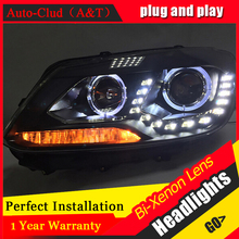 Auto Clud Style Head Lamp for VW Touran led headlights 2011-2014 Volkswagen Touran led drl H7 hid Bi-Xenon Lens low beam