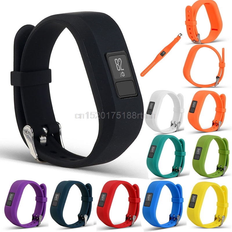 JAVRICK For Garmin Vivofit 3 Replacement Silicone Wrist Bracelet Band Strap Metal Buckle javrick color watch band for garmin fenix 5 forerunner 935 watch silicone replacement wrist strap