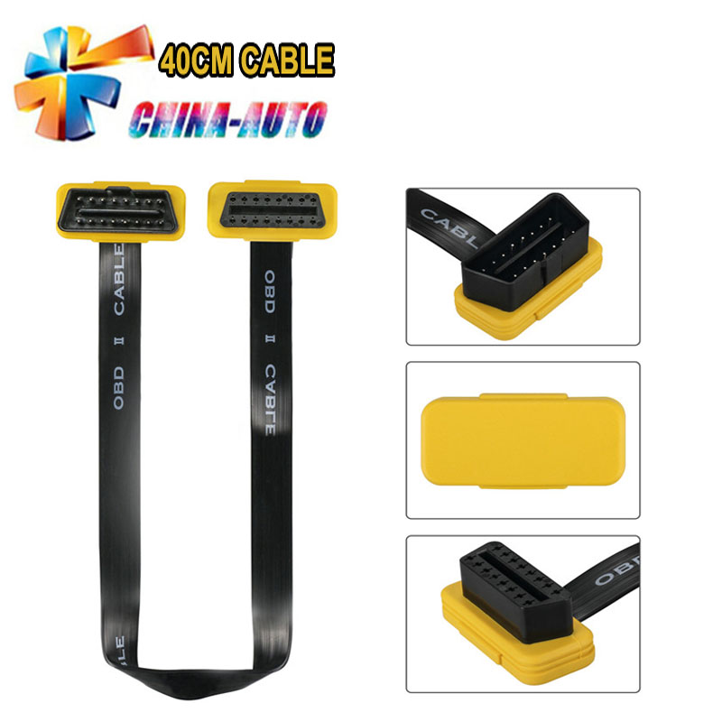 2018 Newest MOC255 AUTOOL 40CM EXTENSION CABLE OBD 2 II female Diagnostic Tool Scanner Code Reader Adapter Car Connector Cable