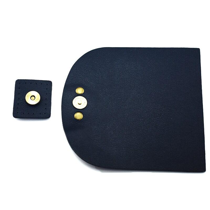 13.5x12.5cm Bag Flip Cover PU Leather Replacement Bag Accessories with Lock Handmade DIY Handbag Shoulder Bag Parts Black KZ0097
