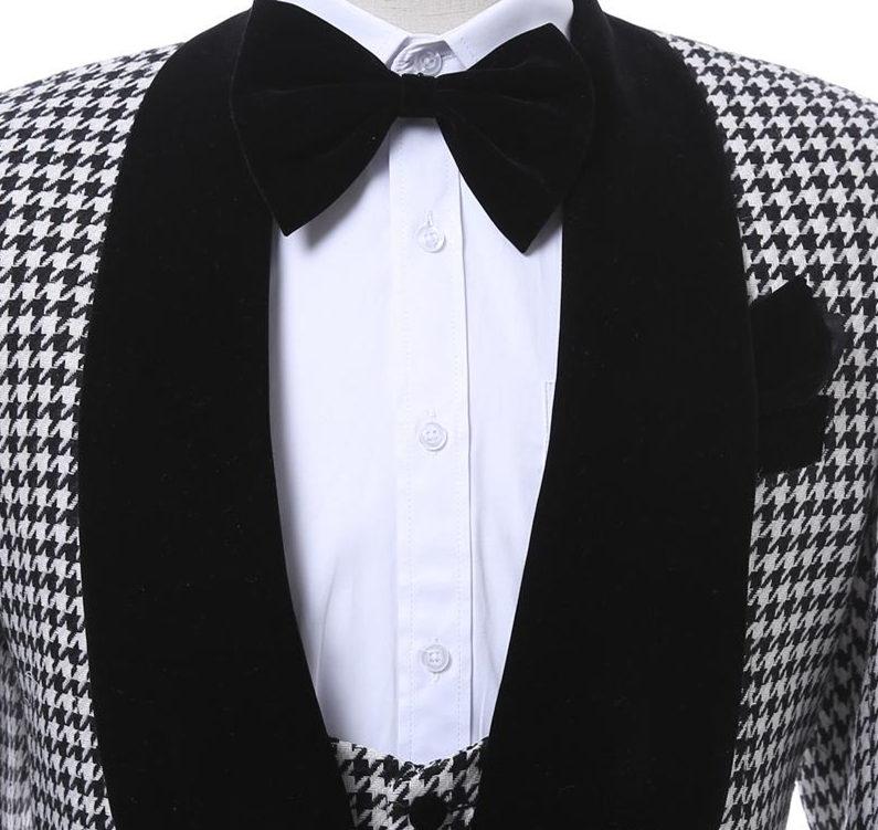 Customize-Houndstooth-Groom-Tuxedos-Shawl-Lapel-One-Button-Side-Vent-Men-Wedding-Blazer-Men-Prom-Dinner (5)