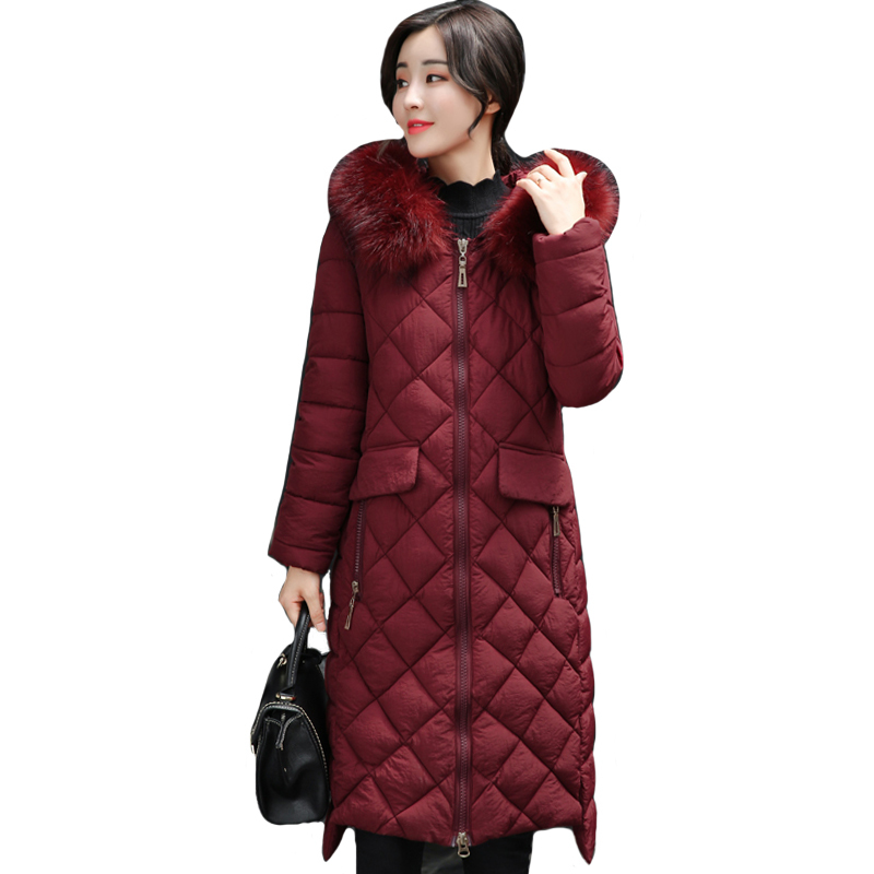 Hooded With Fur Collar Female Coat Winter Outwear For Womens Winter Jackets Long Warm Winter Coat   Parka   Chaqueta Mujer Invierno