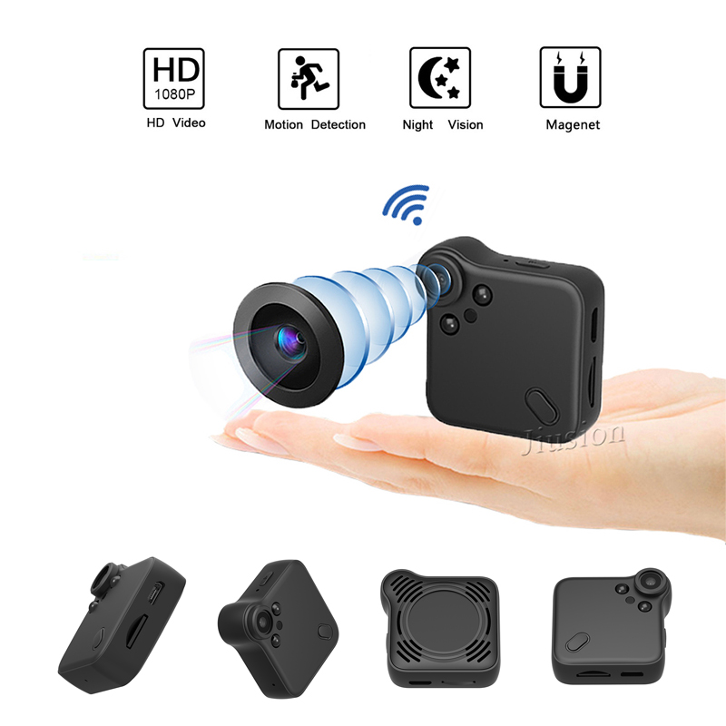 Mini WiFi Body Camera 1080P HD Digital Wireless Video Voice P2P Webcam Recorder Motion Sensor CCTV Magnetic Adsorption Micro Cam image