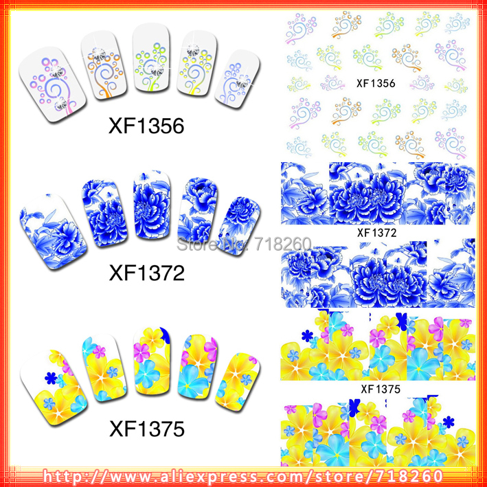 20Packs Latest Water Transfer Nail Sticker Beauty Rose Flower Butterfly Design False Nails Decals XF1356-1375 - Weifun Store store