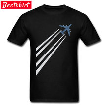 Simple Plane T Shirt Short Sleeve 100% Cotton Fashion Tops & Tees Top Quality Sky Simplified Aircraft Pilot SpaceX Tshirt Men(China)