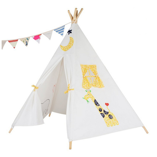 teepee kid play tent children bed tent with elephant design  sc 1 st  AliExpress.com & teepee kid play tent children bed tent with elephant design-in Toy ...