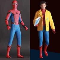 2 signos juguetes locos Marvel vengadores Spiderman casa viene con traje PVC estatua figura modelo juguetes 2 cabezas 25cm