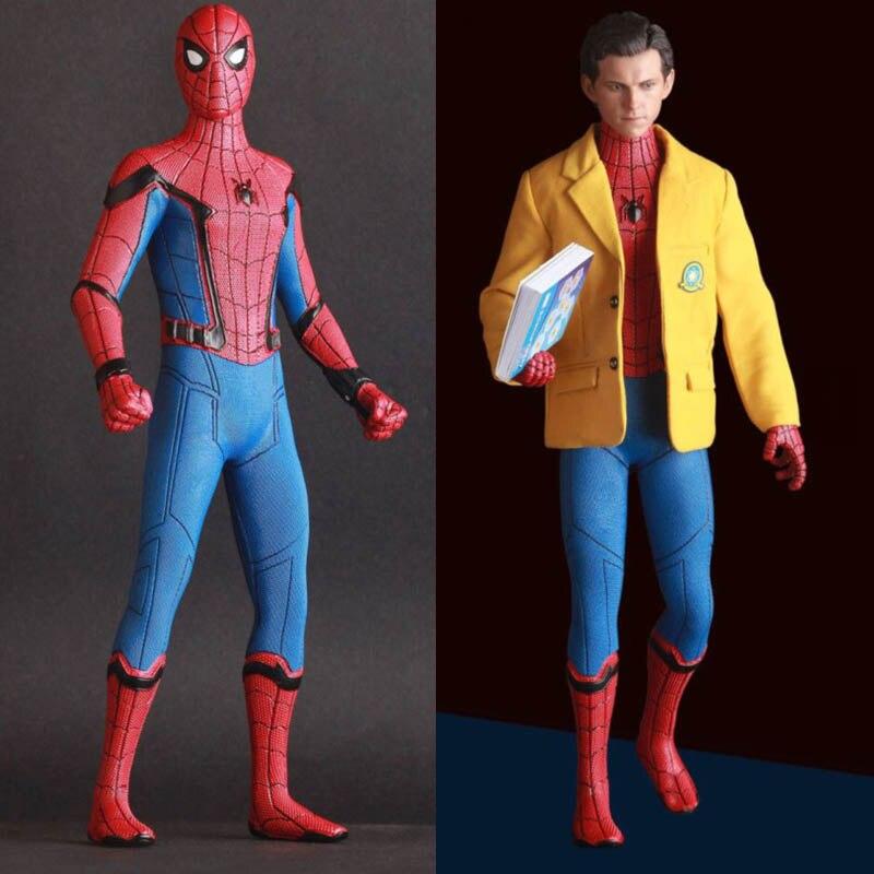 2 sinais brinquedos loucos marvel vingadores spiderman casa vindo com terno figura estatua do pvc modelo