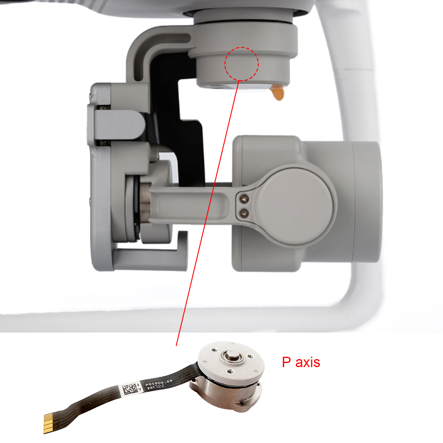 SUNNYLIFE Yaw Motor Gimbal Camera Replacement Repair Part Accessories for DJI Phantom 4 Phantom4 4 Pro