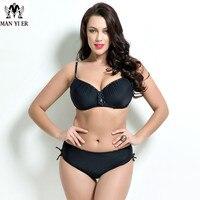 Sexy Women Big Size Swimwear Plus Size Swimsuit Solid Cup Swimwear Bikini Floral Printed Swimwear Bikini